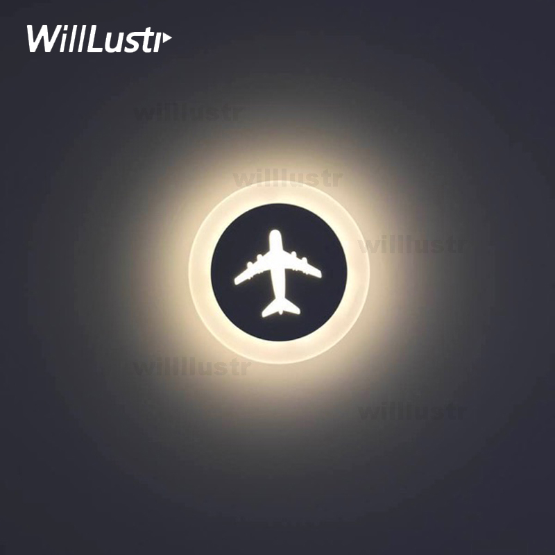 Modern LED wall sconce metal acrylic ceiling lamp engraved cartoon lighting cute plane smile music diamond gear love night lightModern LED wall sconce metal acrylic ceiling lamp engraved cartoon lighting cute plane smile music diamond gear love night light