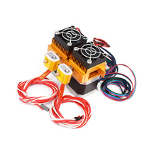 12V 24V MK8 Extruder Double Head for 3D Printers with 0.2mm 0.3mm 0.4mm Nozzlz J-head Extrusion Motor Throat Printer Parts