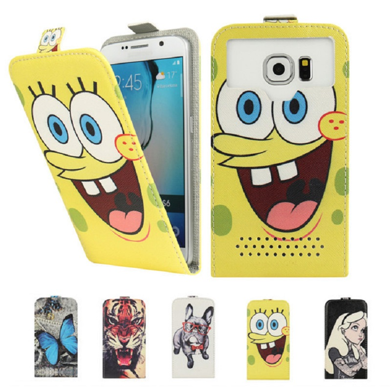 Fly IQ4415 Case, Fashion Cartoon Flip PU Leather Phone Cases for Fly IQ4415 Quad ERA Style 3 Capas Coque Fundas