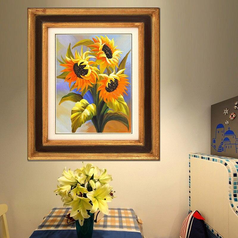 Hermoso girasol 5d Diy kits de pintura de diamante Bordado redondo - Artes, artesanía y costura - foto 2