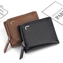 NO. ONEPAUL, мужской держатель для карт, кошелек монет, Carteira, брендовый, двойная молния и застежка, маленький, высокое качество, Shor