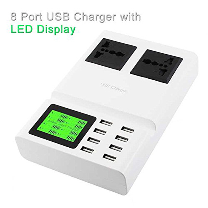Port Charger Adapter With Digital Display: Aliexpress.com : Buy 5V 8A With Digital Display 8 Port