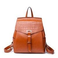 Backpacks Leather Women Diamond Lattice Backpack Travel Lady Shoulder Bag Solid Backpacks Vintage Preppy Style