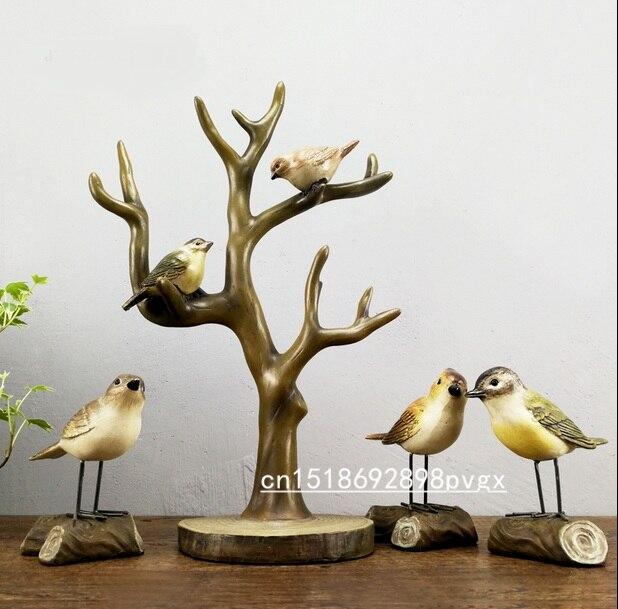 Birds Decoration Tree Fork Jewelery
