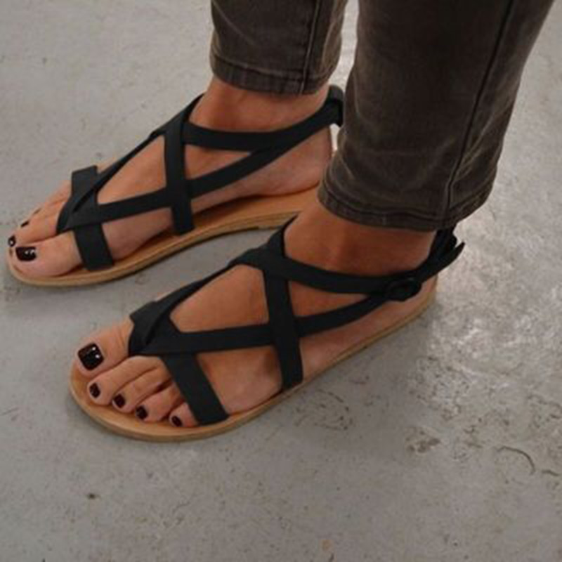 Sandals women Comfortable flip flops summer women's shoes 2018 female Rome casual sandals women sandalia feminina summer leisure slippers slip on round toe comfortable sandals women flat sandals casual flip flops female shoes