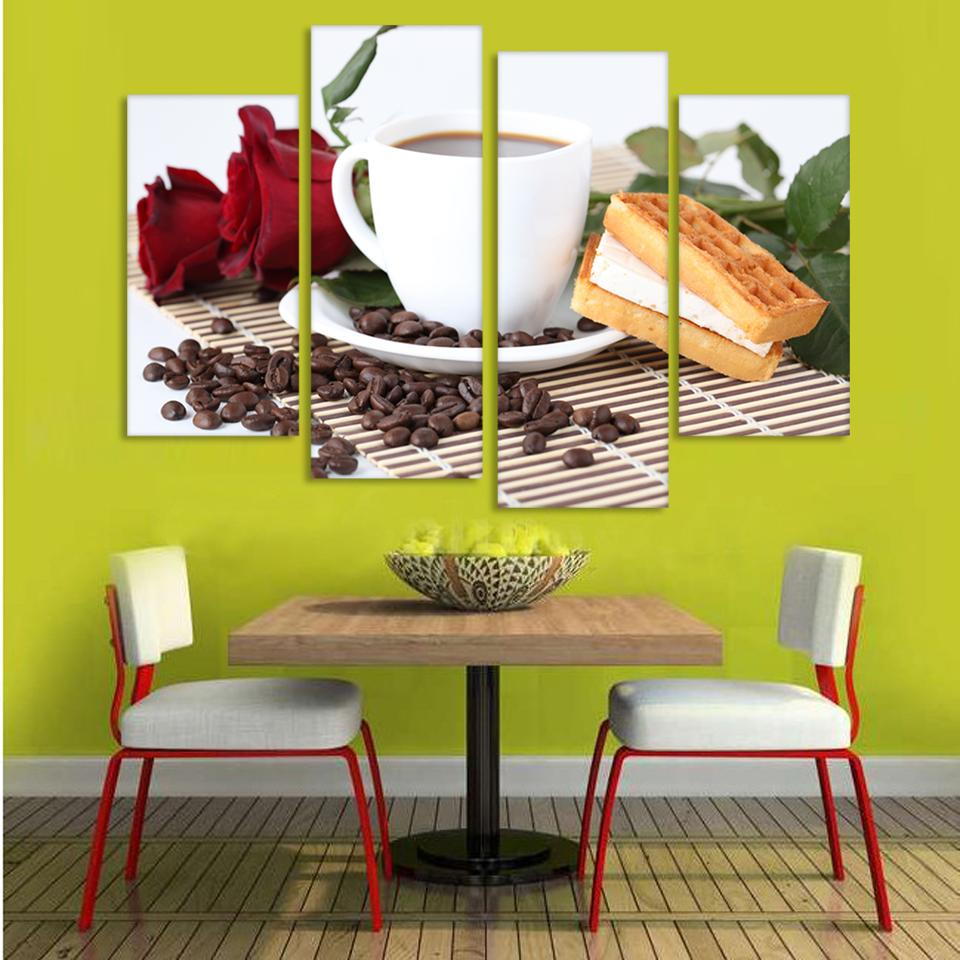 Canvas Print Painting Artwork Cafe styles Coffee Beans CFf025, HD 4 ...