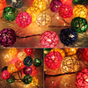 20pcs 7 Colors Sepak Takraw Ball Wedding Holiday New Year Christmas Garland Decoration Nightlight Flasher Christmas