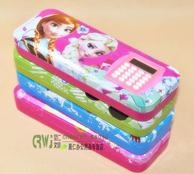 US $9 99  Mickey/Princess/Spiderman Double Pencil Box/Case Rotatable  Calculator Kid Boy Girl Child Students School Cartoon Stationery Gift-in  Pencil
