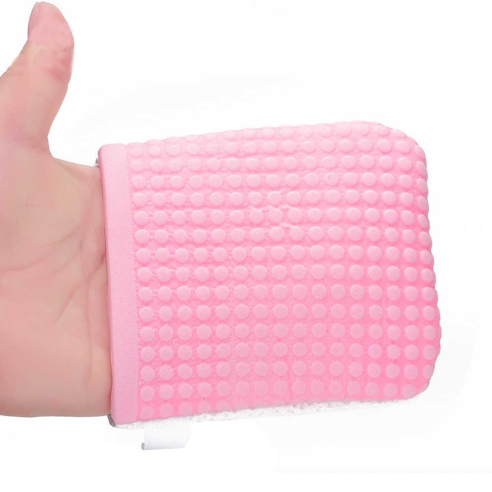 1 шт., антибактериальные перчатки для мытья лица, для снятия макияжа, многоразовые, перламутровые, древесные целлюлозы, красота, очищение, натуральная губка, средство для очищения лица