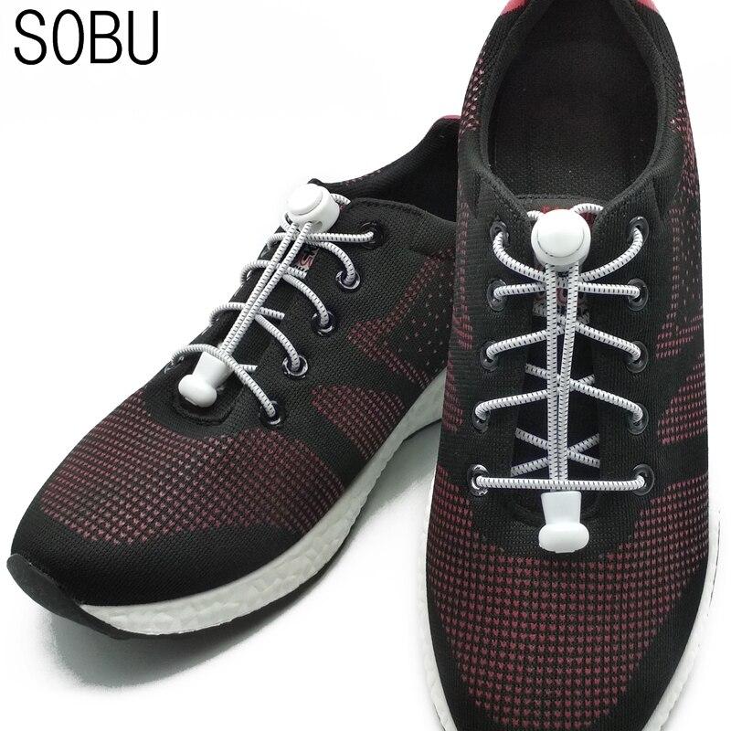 New arrival 1 pair Creative Button shoelace Fashion No Tie Shoelace Locking Shoe Laces Elastic Shoelace Nylon shoelaces N006