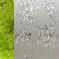 90*100cm No Glue Self Adhesive Privacy Decorative Window Film Static Glass Sticker Frosted Home Decor For Kitchen Living Room