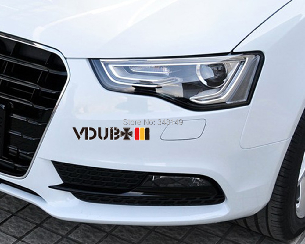 Design a car sticker online - Car Accessories Vdub Cross Germany Flag Sticker Reflective Car Stickers And Decals For Audi Volkswagen Golfgti
