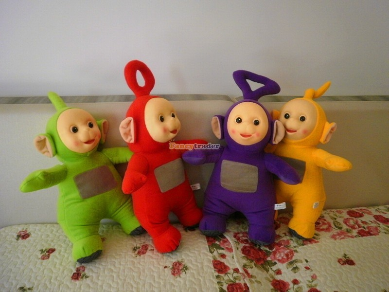 Fancytrader Super Quality Full Set 4 pcs 20\'\' 50cm Copyrighted Plush Stuffed Teletubbies FT90434 (4)