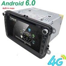 Android 6.0 2DIN Auto DVD-player Für VW Volkswagen Passat POLO GOLF Tiguan CC Skoda Fabia Schnelle Noch Seat Leon GPS Radio bildschirm 4G
