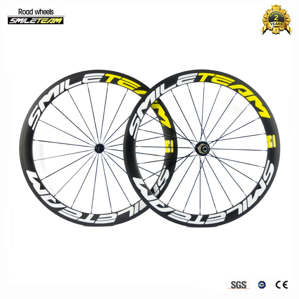 Smileteam Ultra Light Full Carbon R13 Bicycle Wheelset 700C 50mm Depth 23mm Width Clincher Racing Bicycle Road Bike Carbon Wheel smileteam 700c 50mm clincher carbon road bike wheels 23mm width 3k matte carbon racing bicycle wheelset powerway r13 r36 hubs