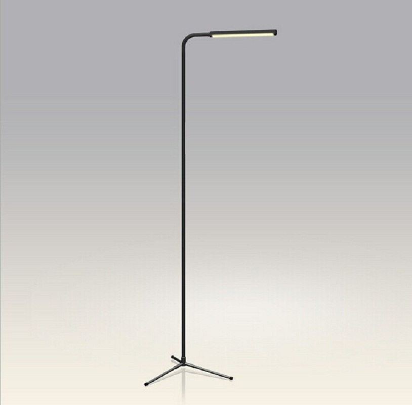 Modern Simple 5W LED Smart Standing Lamp Floor Lamp Dimmable Touch Black remote dimmable Floor Stand Lights f9 modern touch led standing floor lamp reading for living room bedroom with remote control 12 levels dimmable 3000 6000k black