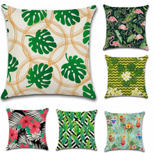 Nordic style Tropical plants fruit flower Flamingo Cushion Cover Decoration for home Sofa chair Pillow Cover friend kids gift nordic style tropical plants flamingo green leaf cushion cover decoration for home sofa chair car pillow case friend kids gift