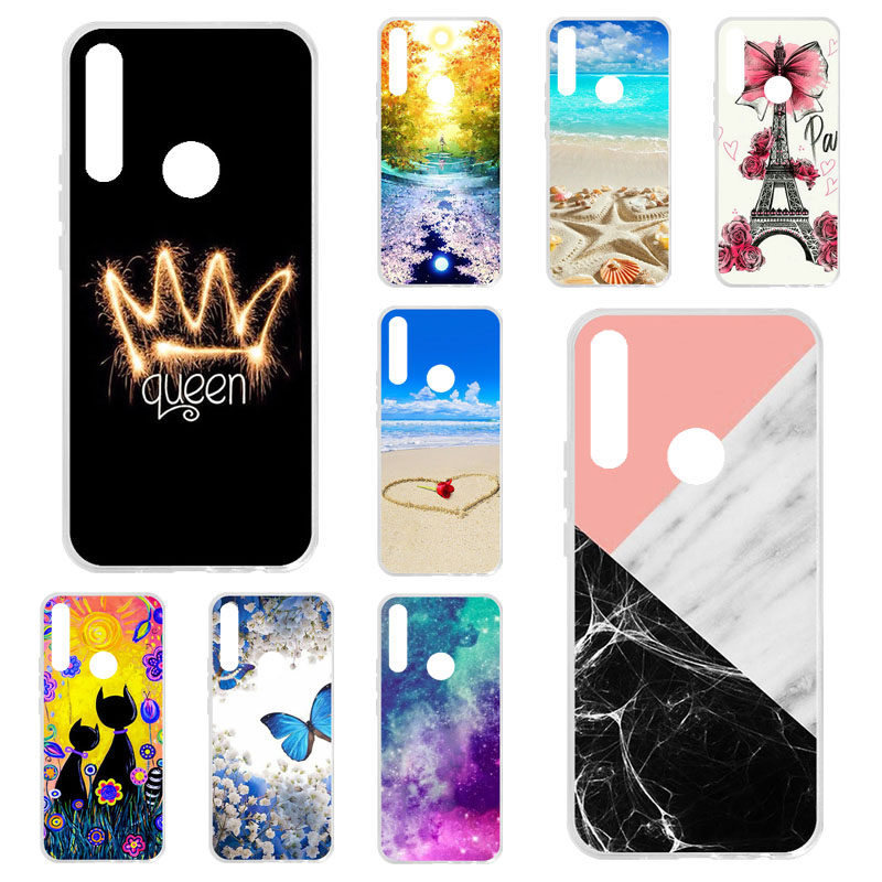 TPU Phone <font><b>Cases</b></font> For <font><b>Huawei</b></font> <font><b>Y9</b></font> Prime <font><b>2019</b></font> <font><b>Case</b></font> Silicone Floral Painted Bumper For <font><b>Huawei</b></font> P Smart <font><b>2019</b></font> 2018 Z <font><b>Cover</b></font> Fundas image