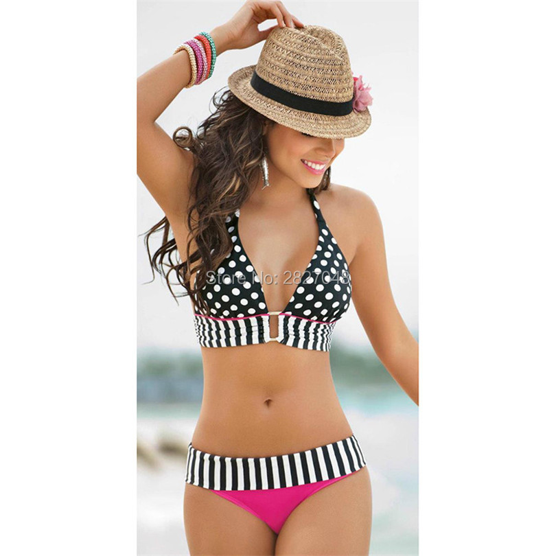 Bikinis Set Latest Collection Of Swiming Suit Women Sexy Wave Point Split Bikini Swimsuit Woman Wish Summer Beach Sexy Suit