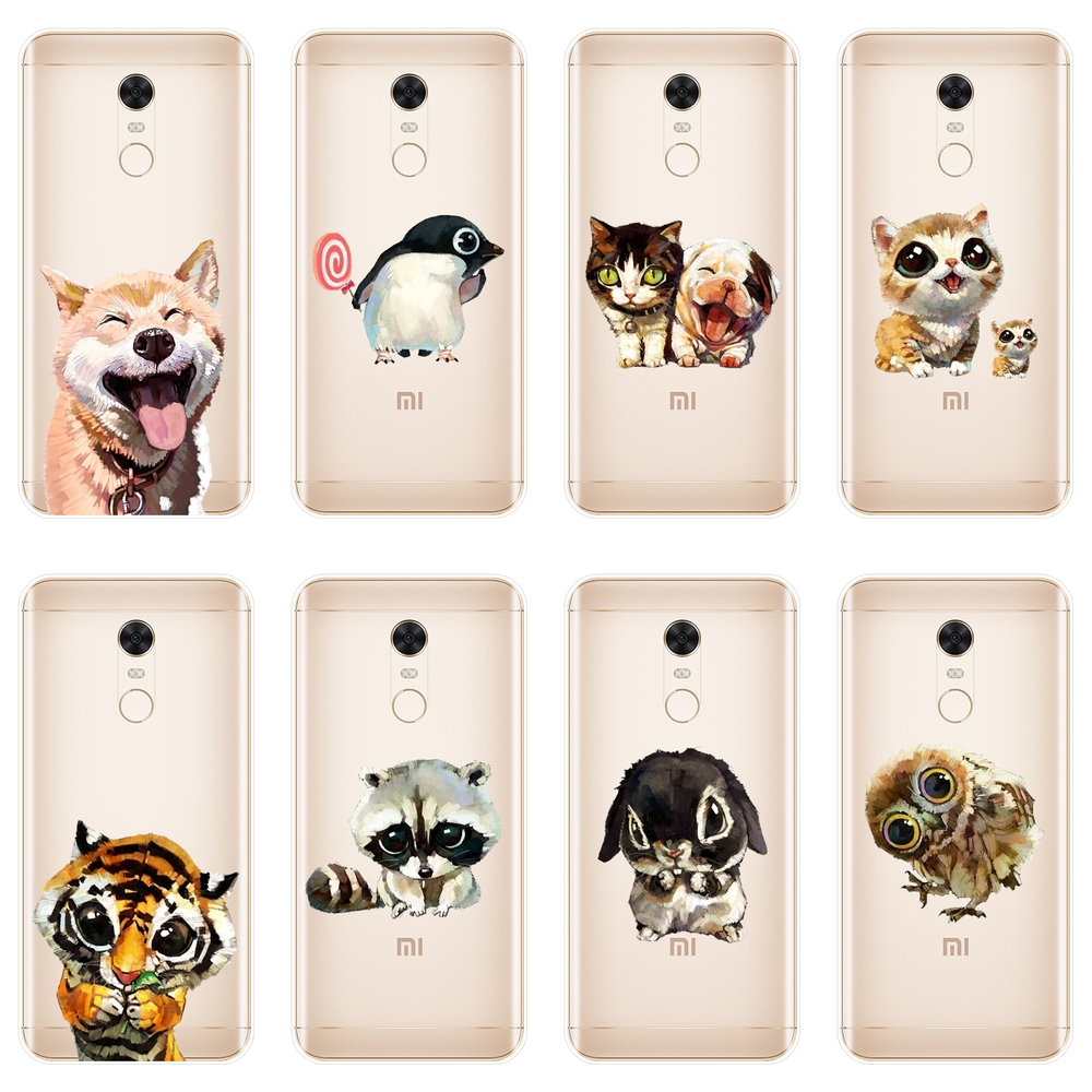 For Pocophone F1 <font><b>Xiaomi</b></font> <font><b>Redmi</b></font> S2 6A 5 Plus 4A Case Silicone Soft Dog Back Cover For <font><b>Redmi</b></font> Note 4 4X 5 5A <font><b>6</b></font> Pro Prime Phone Case image