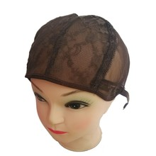 dark brown Small/Medium/Large JewishWig Caps For Making Wigs 1pcs Per LotGlueless Wig Caps Adjustable Strap On the Back Hair Net