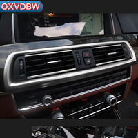 2 PCS For BMW F10 Interior Stainless steel vent Trim Refit Decorative Air Outlet Stickers 5 series 2011 2017 Accessories