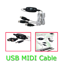 5-pin MIDI cable line music editor MIDI to USB cable Midi Cable Lead Adaptor Keyboard Interface to PC for Windows & Mac