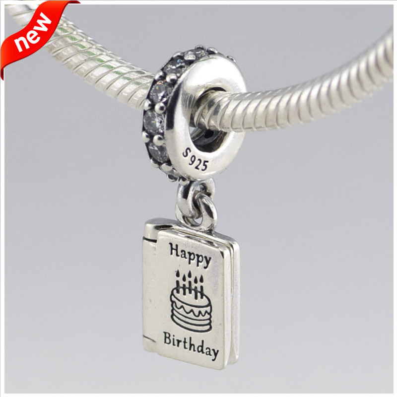 Aliexpress.com : Buy CKK 925 Sterling Silver Jewelry Happy Birthday Wishes  Original Fashion Charms Beads Fits Pandora Bracelets from Reliable bracelet  beads ...