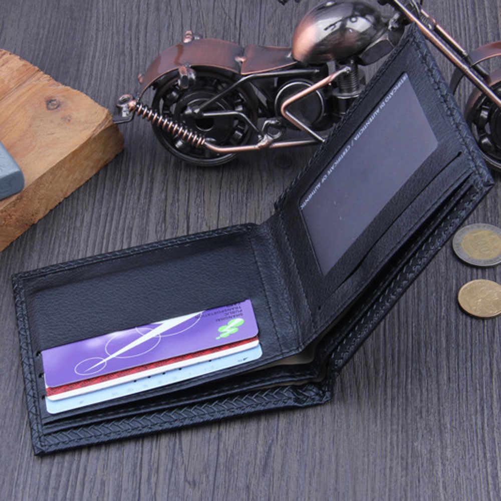 Aelicy 男性高級メンズ財布有名なブランドメンズ財布クレジットカードホルダーショート革財布マネーバッグ portefeuille オム