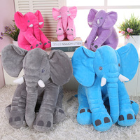 DFH Size 40cm Soft Appease Elephant Playmate Calm Doll Baby Toys Elephant Pillow Plush Toys Stuffed
