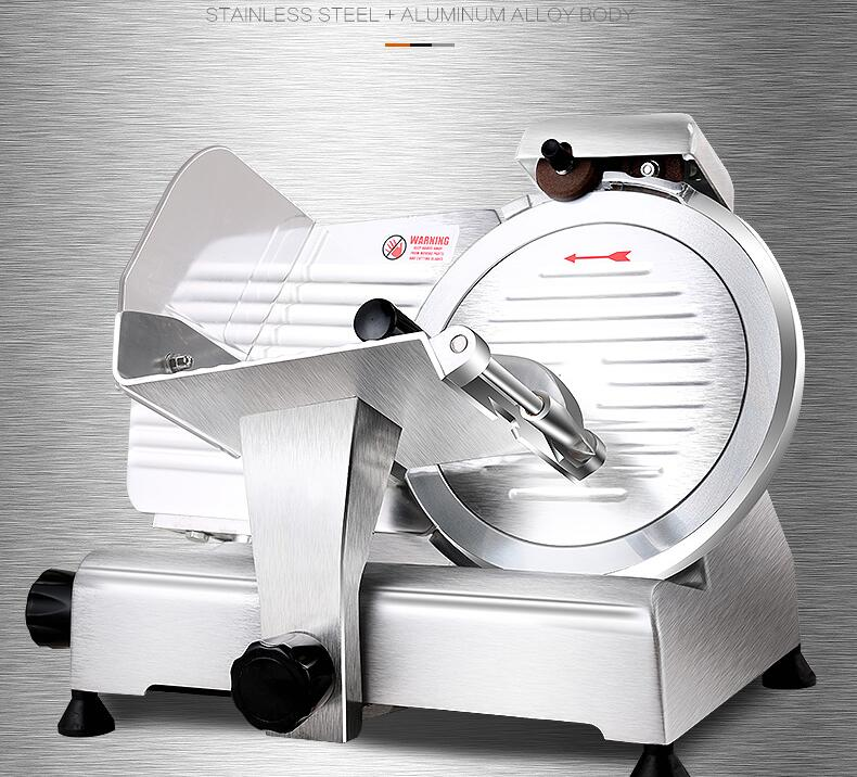 10 Inches Commercial Semi-automatic Slicer, Electric Lamb, Beef Slicer Meat Planer With Sharpening Function