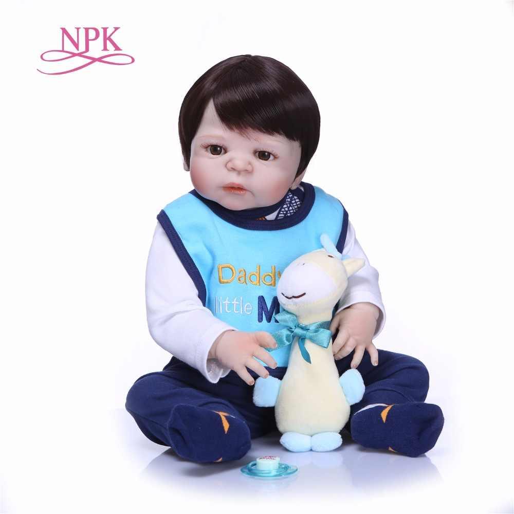 NPK 22 дюймовые куклы Reborn Детские игрушки милые DIY куклы мальчик и девочка Brinquedos подарки Детские игрушки
