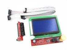 Бесплатная доставка!! 3d-принтер умный контроллер ПЛАТФОРМЫ 1.4 ЖК 12864 панель управления синий экран