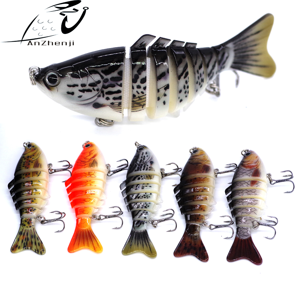 Cheapest Jointed 7 Sections Minnow Fishing Lure 10cm 15.8g Swimbait Isca Artificial Crankbait  Culter Pike Fishing Tackle