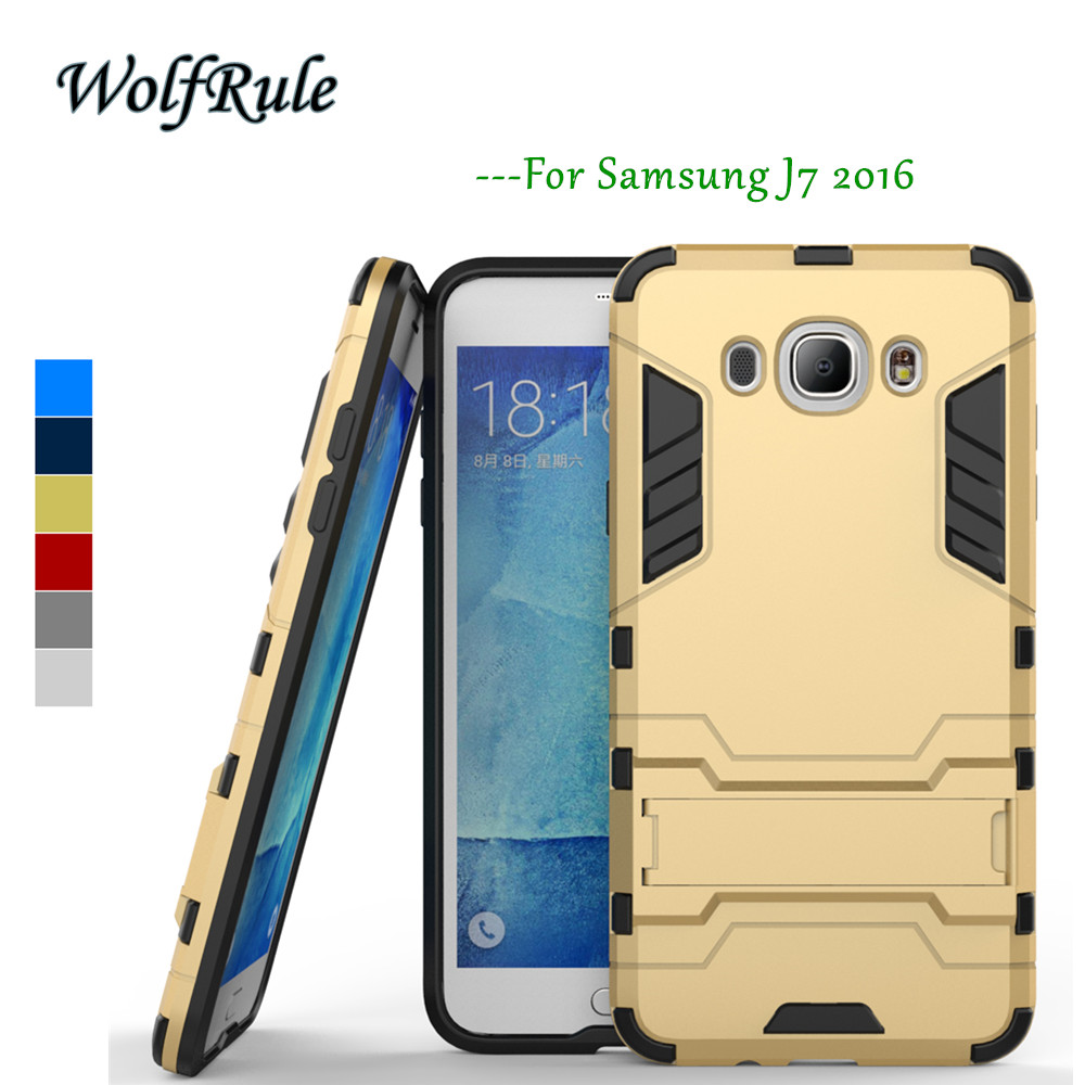 WolfRule sFor Case Samsung Galaxy J7 2016 Cover Soft TPU + Slim PC Case for Samsung Galaxy J7 2016 Case J710 Samsung J7 2016 <<{