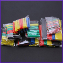 328pcs 2:1 Polyolefin Shrinking Assorted Heat Shrink Tube Wrap Wire Cable Insulated Sleeving Tubing Set стоимость