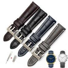 22mm Crocodilo Padrão Pulseira de Couro De Bezerro para Armani Relógio Homem  AR1861 AR1862 AR1878 AR1947 Relógios Negócios Acess. 15f0eff80c