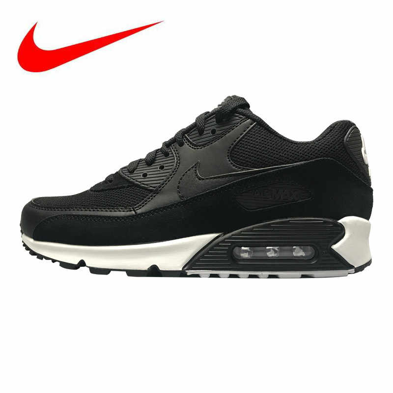 half off 54153 453b6 NIKE AIR MAX 90 ESSENTIAL Men s Running Shoes, Black, Breathable  Wear-resistant Non