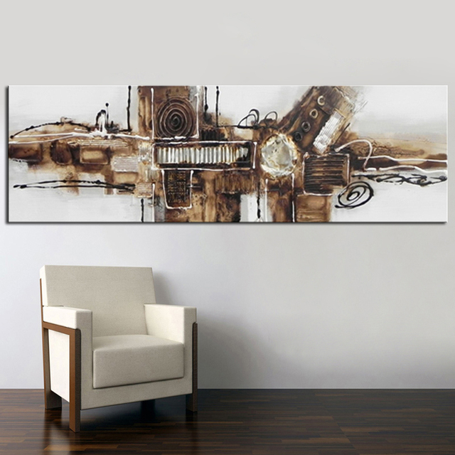 Huge hand painted modern abstract oil paintings art works for home ...