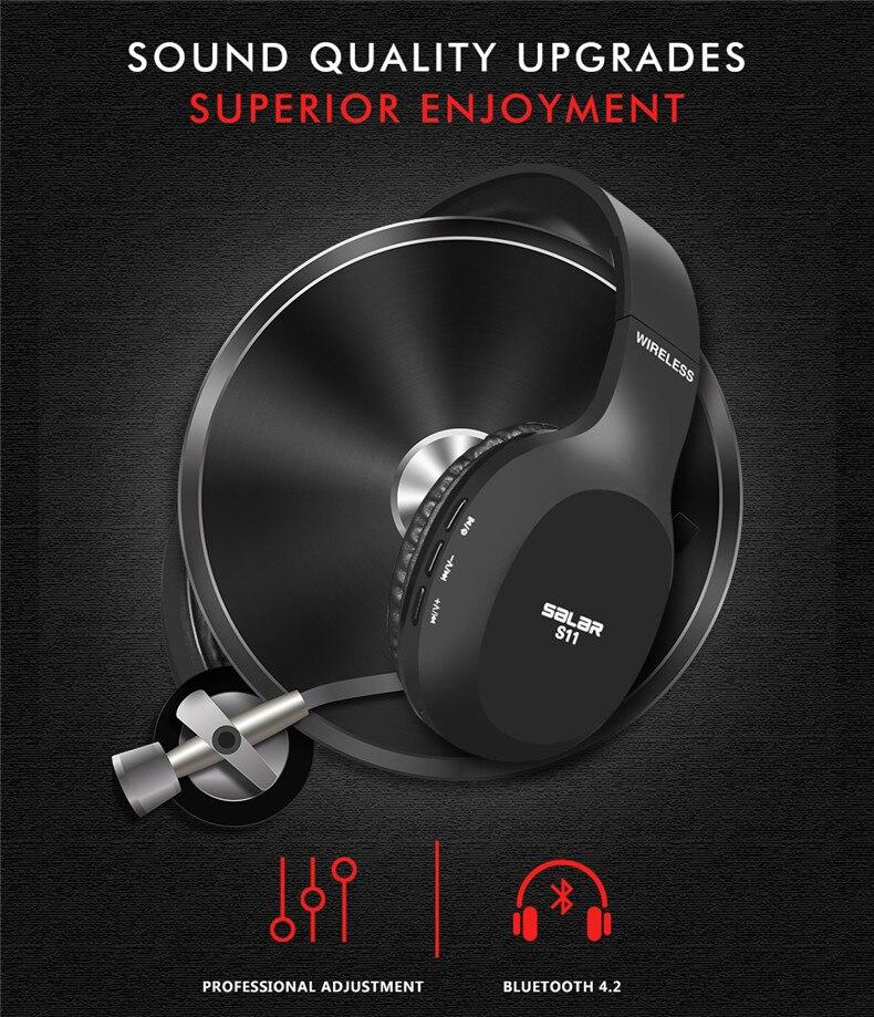 Salar S11 Wireless Headset Foldable Bluetooth Headphones Gaming