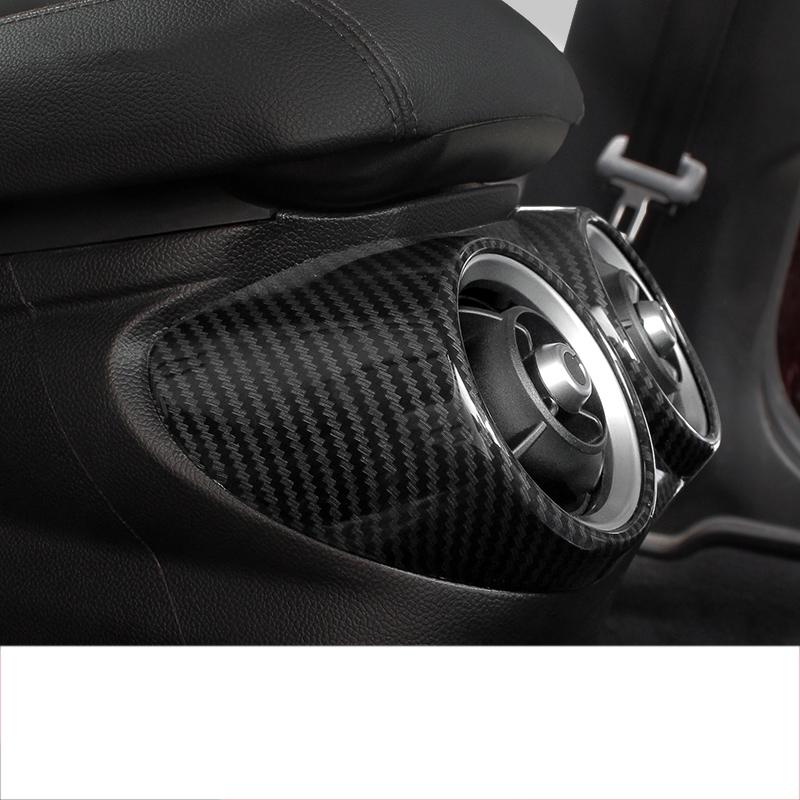 Carbon Fiber CHEYA for Alfa Romeo Giulia 2017-2020 ABS Plastic Dashboard Side Air Conditioning Outlet Vent Frame Cover Trim