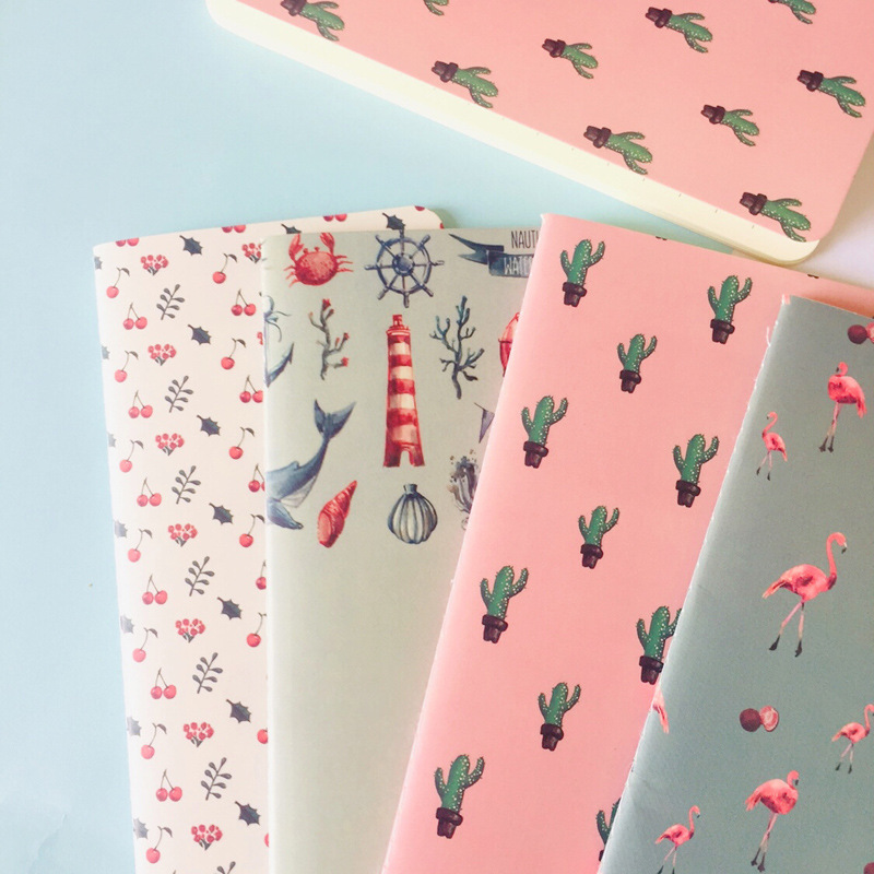 Cute Flamingo Cactus Notebook Note Book Diary Day Planner Kawaii Journal Stationery Gift School Supplies
