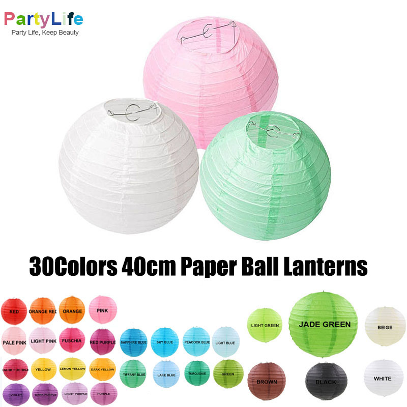 Cheap Home Wedding Ideas: 40cm Paper Ball Lanterns Cheap Home Garden Decorative