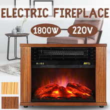 220V 1800W Electric Heater Vertical Fireplace Warm Air Fan Wall Portable Heating Stove Radiator Warmer Household Winter Safe
