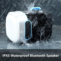 Mini Outdoor Bluetooth Speaker Portable Waterproof Wireless Subwoofer 12 Hours Playtime Super Bass Speaker Flashlight Design