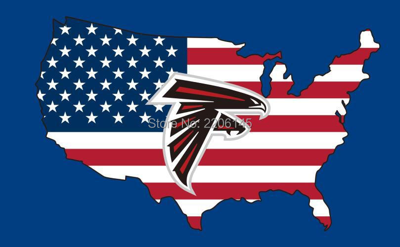New Style 3x5ft Atlanta Falcons Flag With American Banner Flag 100d Polyester Nfl Flag Hot Sell