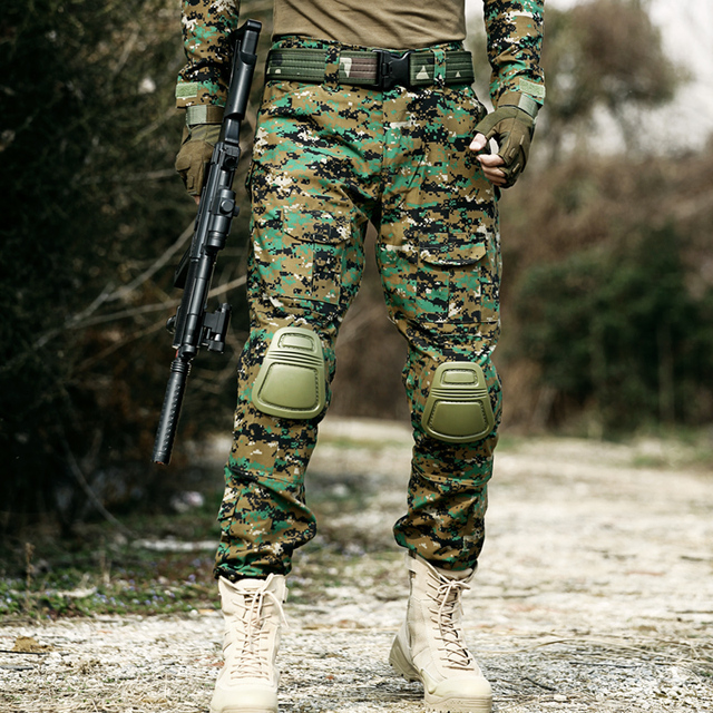 Army Airsoft Camouflage Clothes Hunter Field Work Combat Trouser Woodland