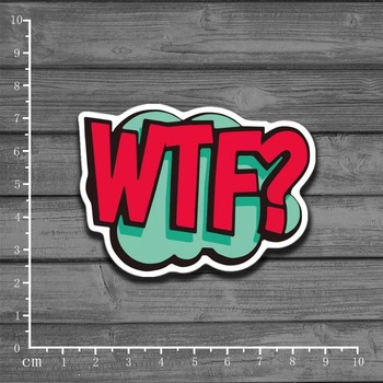 Hot Word WTF? Graffiti Book Sticker For Kids Toys Skateboard On Notebook Laptop Luggage Phone Car Styling Home Decal Sticker image