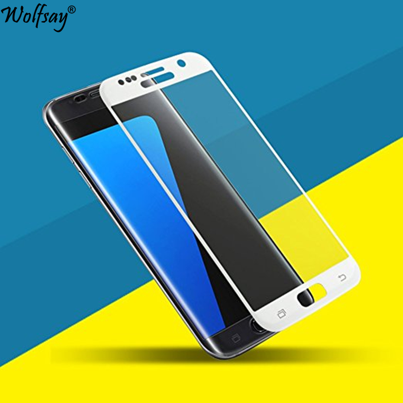 Galleria fotografica 2pcs For Tempered Glass Samsung Galaxy S7 Screen Protector 2.5D Curved Full Film For Samsung Galaxy S7 Glass Protective Wolfsay