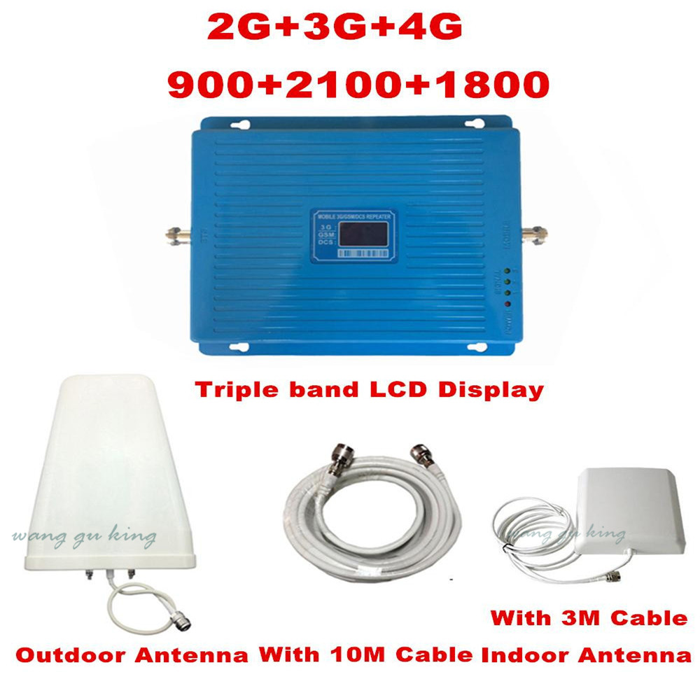 Triband repetidor TriBand repeater 2g 3g 4g LTE 900 1800 2100 MHz GSM DCS WCDMA mobile phone signal booster Celular amplifierTriband repetidor TriBand repeater 2g 3g 4g LTE 900 1800 2100 MHz GSM DCS WCDMA mobile phone signal booster Celular amplifier